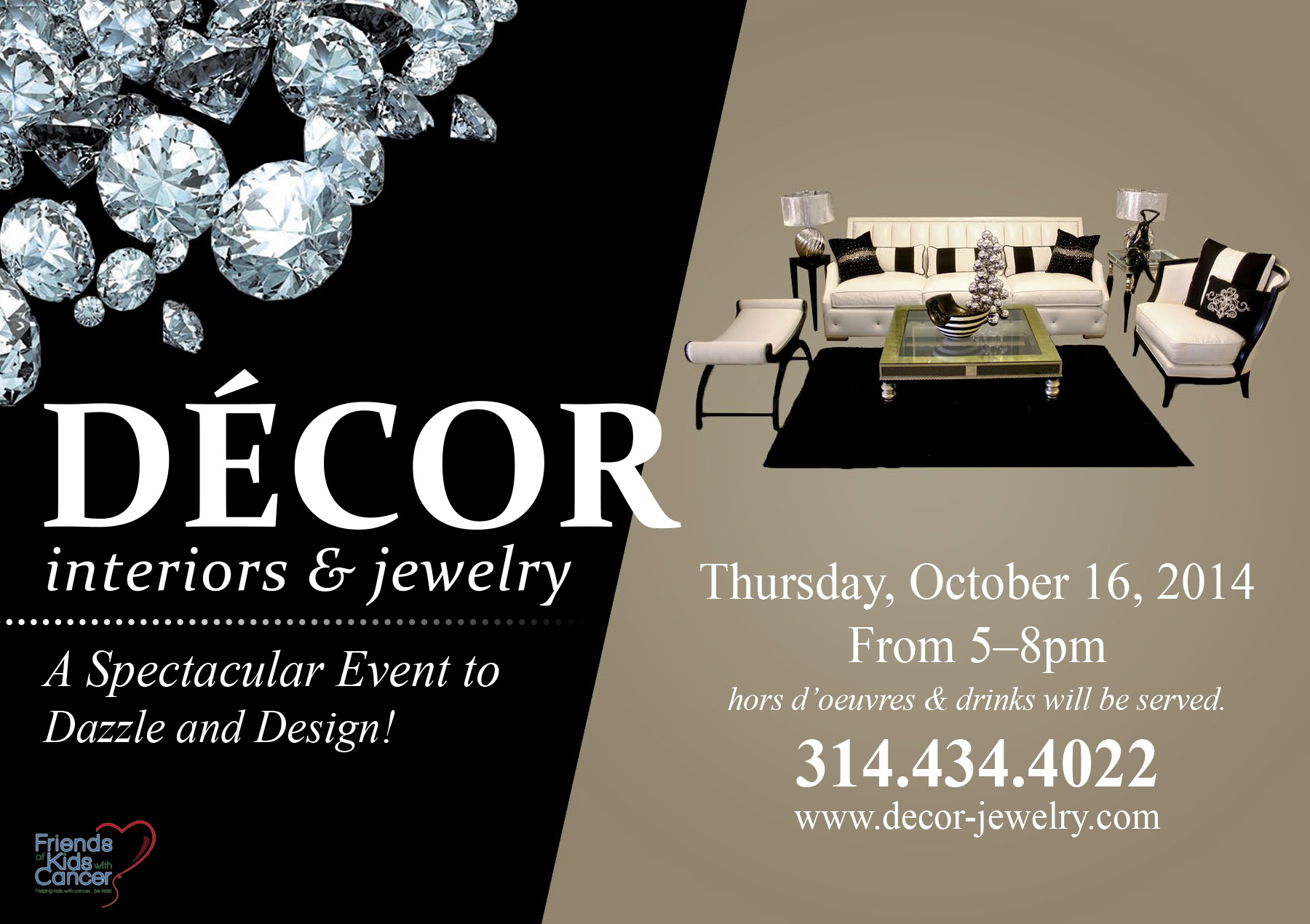 Friends of Kids with Cancer Decor Interiors Jewelry party