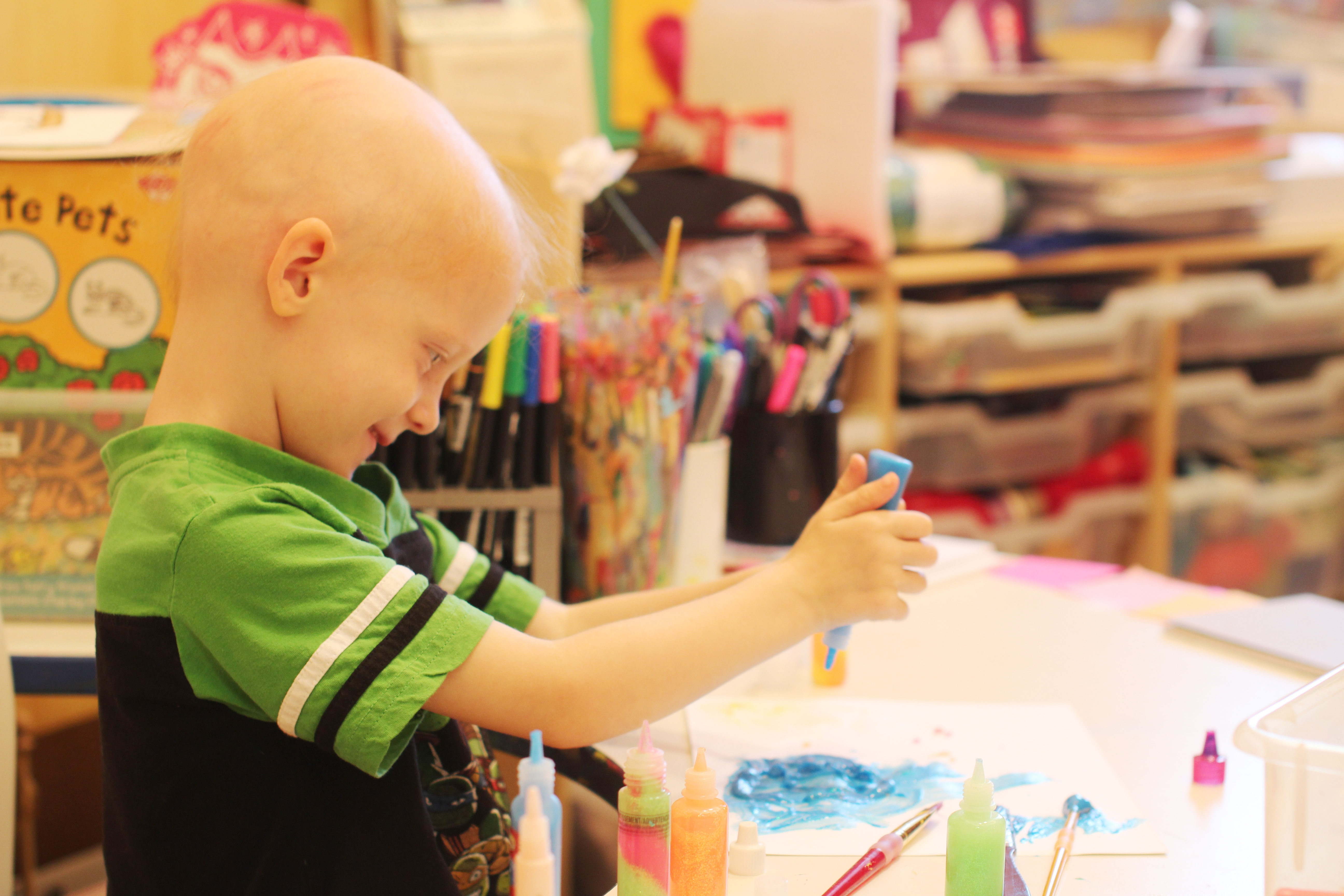 friends of kids with cancer art therapy