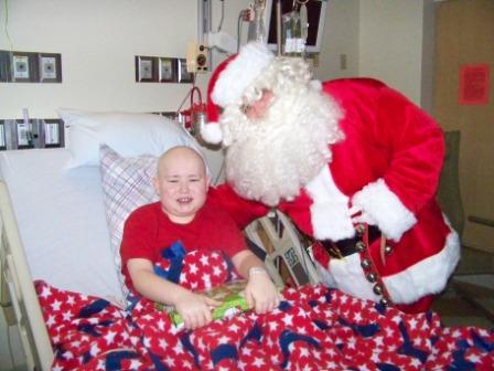 Cardinal Glennon Patient with Santa!